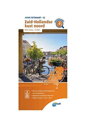 Fietskaart Zuid-Hollandse kust noord 1:66.666: Den Haag, Leiden