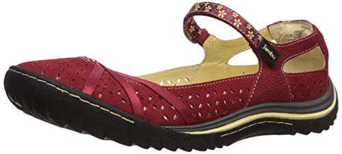 Jambu Women's Cherry Blossom Mary Jane Flat, red/Cream, 9 Medium US