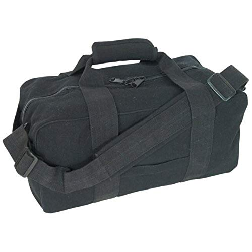 Fox Outdoor Products Canvas Gear Bag, Black, 9 x 18-Inch