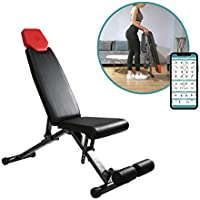 Finer Form 5-in-1 Adjustable Weight Bench for Full Body Workout