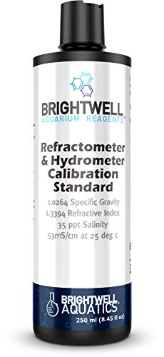 Brightwell Aquatics Refractometer & Hydrometer Calibration Standard, Accurate Reference for The Calibration of Seawater Refractometers, Hydrometers & Other Density Measuring Equipment (RES250)
