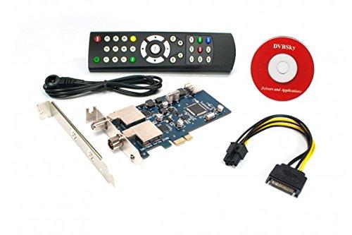 Dvbsky T9580 V2 PCIe Karte mit 1x DVB-S2 und 1x DVB-T2 / DVB-C Tuner