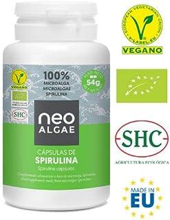 Spirulina en Capsulas | Producción 100% Natural | 120 Comprimidos de Spirulina por Envase | Potente Antioxidante Natural | 350 mg por Cápsula | Neoalgae