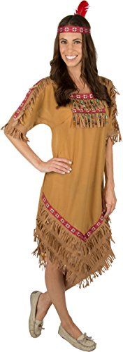 Kidcostumes Adult Native American Indian Woman Costume With Headband (Small Adult)