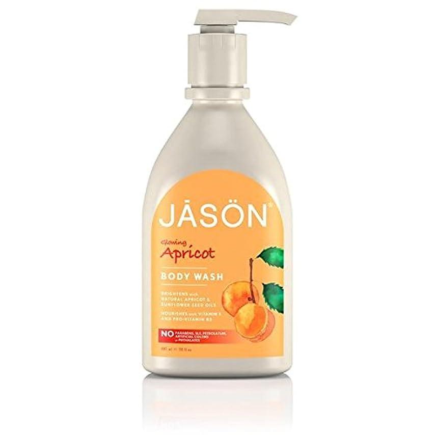 ワイプ看板同情ジェイソン?アプリコットサテンボディウォッシュポンプ900ミリリットル x4 - Jason Apricot Satin Body Wash Pump 900ml (Pack of 4) [並行輸入品]