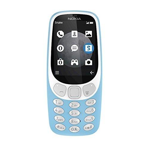 Nokia 3310 3G Telefono Cellulare, Memoria Interna da 64 MB, Fotocamera: 2 MP, Azzurro [Italia]