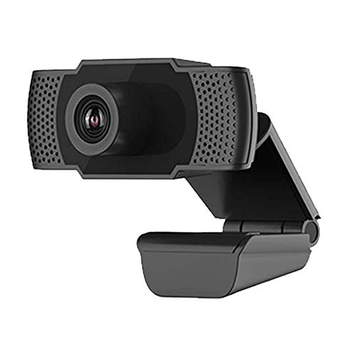 DRAGON SLAY 1080P Full HD USB Webcam Camera with Microphone, Plug and Play Adjustable Wide View Angle for PC Laptop Computer 1.5m Cable