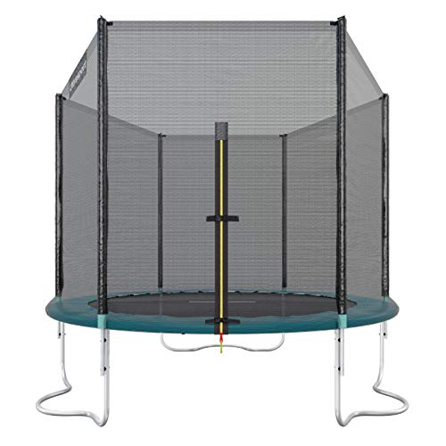 Ultrasport Outdoor Gartentrampolin Jumper, Trampolin Komplettset inklusive Sprungmatte, Sicherheitsnetz, gepolsterten Netzpfosten und Randabdeckung, Grün, 180 cm