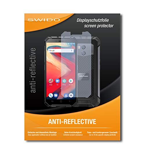 SWIDO Schutzfolie für Ulefone Armor X2 [2 Stück] Anti-Reflex MATT Entspiegelnd, Hoher Festigkeitgrad, Schutz vor Kratzer/Bildschirmschutz, Bildschirmschutzfolie, Panzerglas-Folie