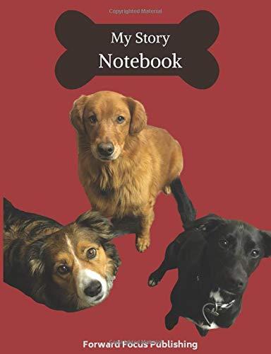 [画像:Handwriting Practice Story Book: 100 Pages with Drawing Space for Illustrating your Story; Cover Featuring Cute Dogs Looking up at You]
