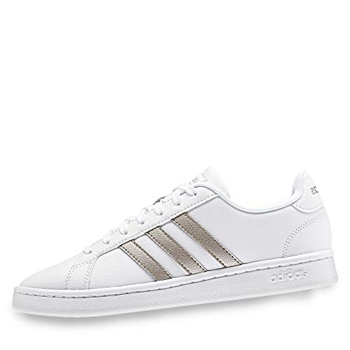 adidas Grand Court, Scarpe da Tennis Donna, Ftwr White/Platinum Met./Ftwr White, 41 1/3 EU