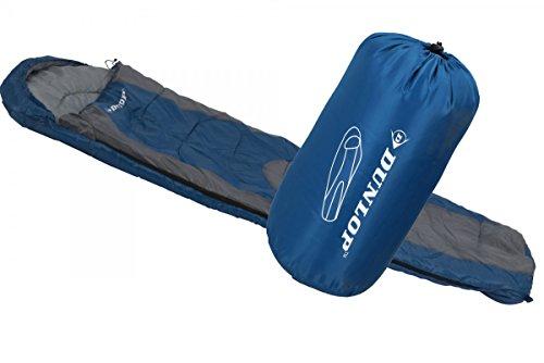 Dunlop Mummy Schlafsack, blau/Grau, 210x80x50cm