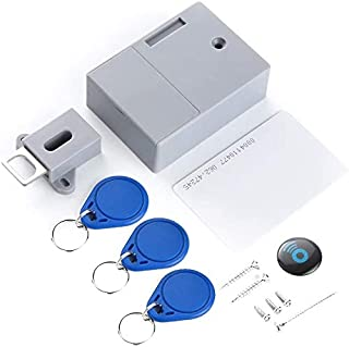 Smart Lock Battery Rfid Ic Card Sensor Cabinet Drawer Intelligent Diy Invisible Hidden Digital Lock Without Perforate Hol...