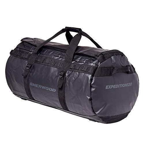 Sherwood Outdoor-Sporttasche Expedition-Bolsa de Deporte para Exteriores, 40 L, Impermeable, con función de Mochila, Color Negro, Unisex Adulto, 40 litros