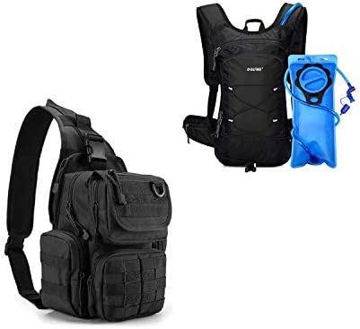 G4Free Tactical EDC Sling Pack Insulated Hydration Pack with 2L Water Bladder product image