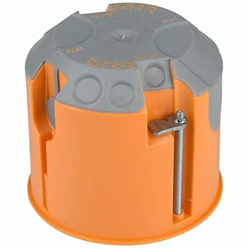 Hohlwandschalterdose Unterputz orange rund 61mm tief winddicht