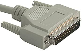 New C2G 02799 DB25 Male to Centronics 36 Male Parallel Printer Cable, Beige (10 Feet, 3.04 Meters)