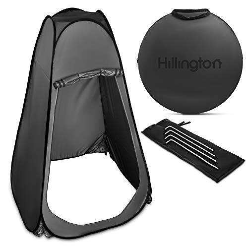 Hillington Lightweight and Portable Instant Pop Up Tent Ideal For Camping Toilet, Shower, Privacy Space/Room For Camping Caravan Picnic Fishing Festivals Beach Shower Changing (Grey)