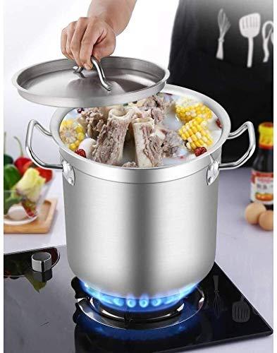 Pot Pot Bespaar tijd Lower Kitchen Temperatuur Composite Bottom, Grote Deep RVS Inductie Stock braadpan Stockpot Soep pan