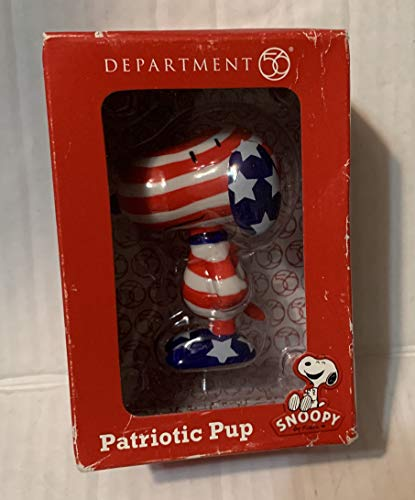 """Department 56 Patriotic Pup Snoopy by Design 3"""""""