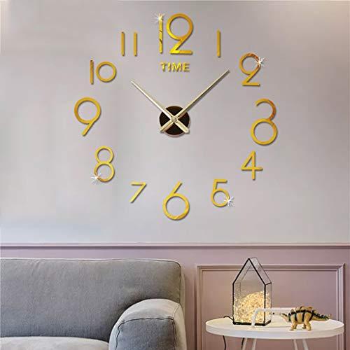 DIY Wanduhr, Rovinci DIY 3D große Wanduhren Moderne Acryl Wandtattoos Aufkleber Dekoration Uhren für Büro Wohnzimmer Schlafzimmer Uhr Home Office Decor Geschenk