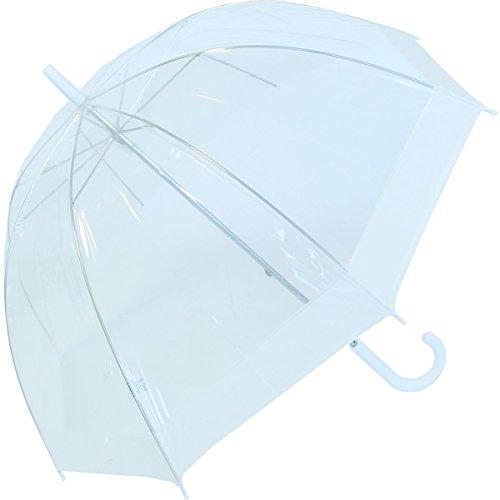 Ombrello trasparente a campana bianco.