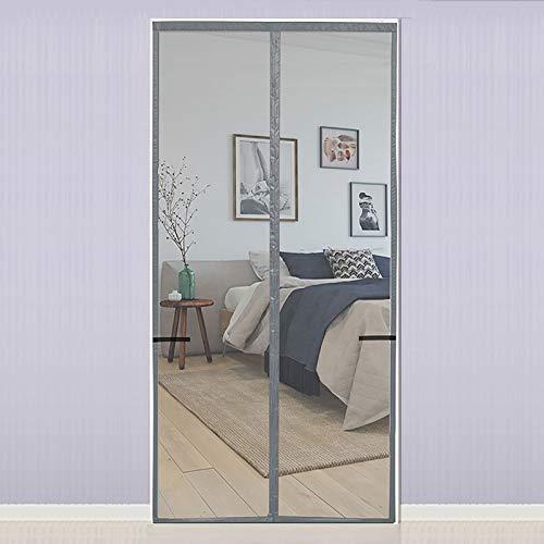 HAODELE Fly Screen Door 130x225cm Anti-Mosquito Magnetic Soft Door Magnetic for Bedroom, Gray A