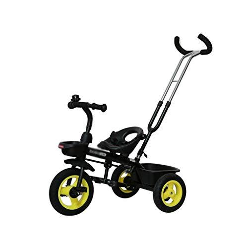 Carritos con capazo Bicicleta Coche De Juguete para Niños Triciclo Plegable Ligero...