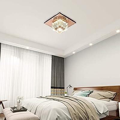New Modern 40w Crystal Ceiling Light Flush Mount Pendant Lamp Fixture Lighting Chandelier