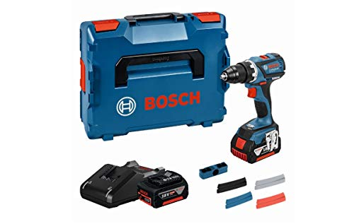 Bosch Professional Akkuschrauber GSR 18 V-EC (2x 4,0 Ah Akku, 18 Volt, Schrauben-Ø max: 10 mm, in L-BOXX)