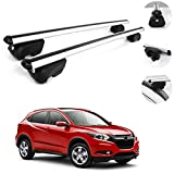 OMAC Automotive Exterior Accessories Roof Rack Crossbars | Aluminum Silver Roof Top Cargo Racks | Luggage Ski Kayak Bike Carriers Set 2 Pcs | Fits Honda HR-V 2016-2021