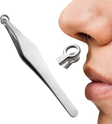 Universal Nose Hair Trimming Tweezers - Nose Hair Removal Kit, Round Head Grooming Scissor Eyebrow Clippers Trimmer, Multifunction Water Resistant TrimmingTweezers, for Men Women Sideburns, Brow,Body.