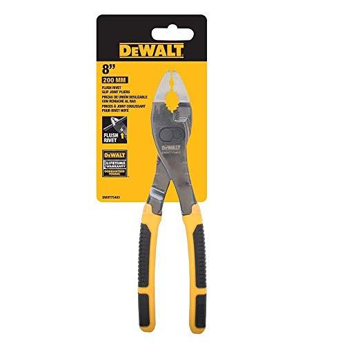 DEWALT DWHT75403 8' Flush Rivet Slip Joint Pliers