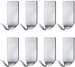 Adhesive Hooks Maxee adhesive hooks heavy duty wall hooks 8 pack waterproof adhesive hooks for hanging in Bathroom Kitchen...