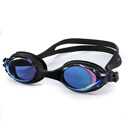 MHP zwembril hoogwaardige siliconen waterdichte anti-mist HD mannen en vrouwen modellen hoge sterkte elastische bril Zwart