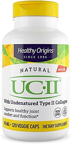 Healthy Origins UC-II (Undenatured Type II Collagen) 40 mg, 120 Veggie...