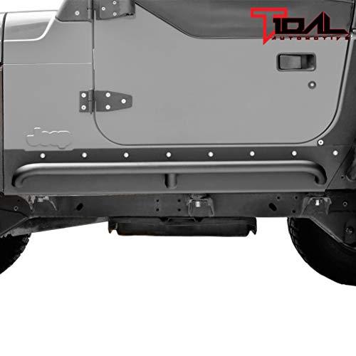 Tidal Armor Rock Slider with Tube Running Board Steel Fit for 97-06 Wrangler TJ