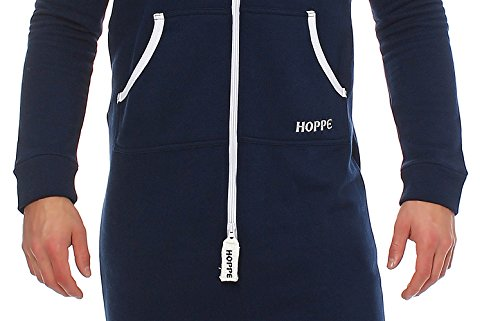 Gennadi Hoppe Herren Jumpsuit Slim Fit,blau - 5