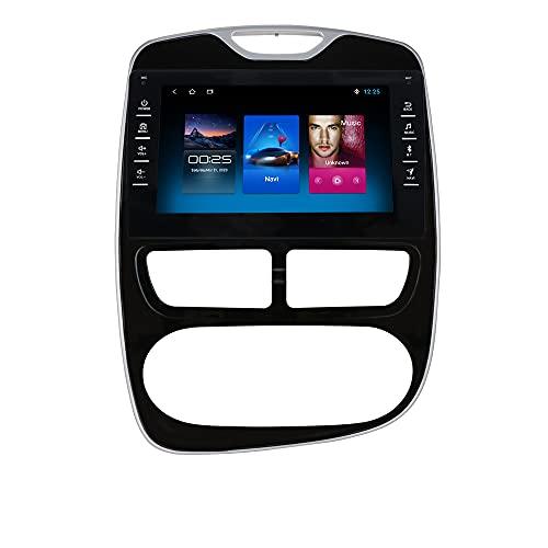 Autoradio per Renault Clio 2012-2016 Android 10 Radio per Renault Clio Bluetooth Comandi al Volante 8 Pollici Touch Screen 1080P GPS Navi Mirror Link USB Wifi 4G DAB+ Retrocamera Ingresso