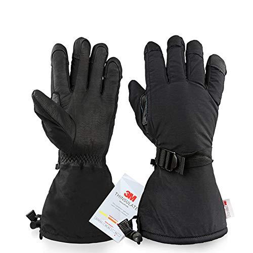 DADD Guantes térmicos de esquí, Guantes de Invierno Resistentes al Viento y al Agua, esquí Snowboard al Aire Libre Moto Motocicleta Raynaud para Hombres y mujeres-black2-XL