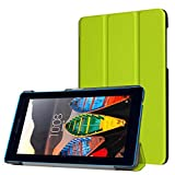 for Lenovo Tab 3 Essential TB3-710F TB3-710I Tablet Cover , Ultra Slim Folio Stand Lightweight Leather Case for Lenovo Tab3 7 Essential 710F 710L 710i (NOT for Tab7 Essential TB-7304F) (Green)