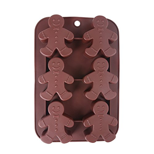 Generic Silicone Chocolate Moulds Gingerbread Man Bakeware Dishwasher Safe