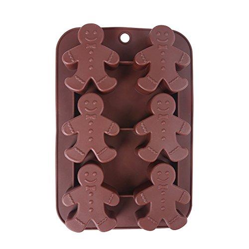 Generic Moule chocolat en silicone en forme de bonhomme en pain d'épices, passe au lave-vaisselle