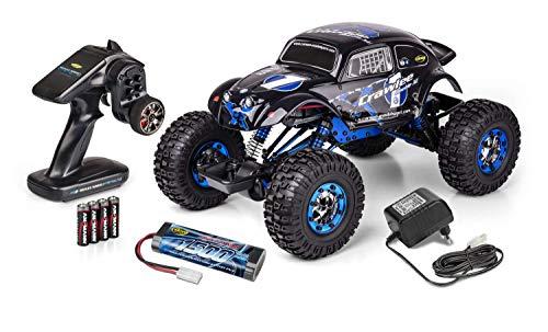 Carson 500404169 500404169-1:10 X-Crawlee XL Beetle 2.4G 100% RTR, Ferngesteuertes Auto, RC, inkl. Batterien und Fernsteuerung, Crawler, Offroad, Robustes Fahrzeug, schwarz*