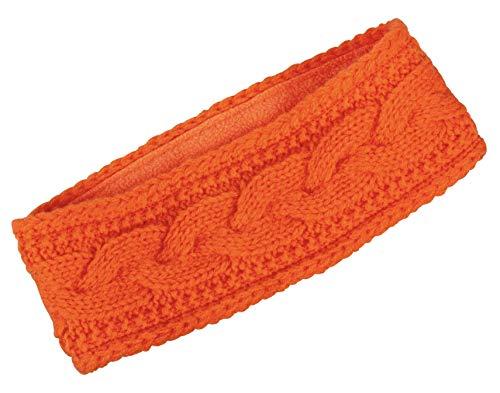 Merkel GEAR Zopf-Stirnband Headband Orange Oliv aus Reiner Schurwolle (Orange)