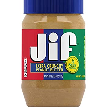 Jif Extra Crunchy Peanut Butter 40 Ounces  Pack of 8  7g  7% DV  of Protein per Serving Packed with Peanuts for Extra Crunch No Stir Peanut Butter