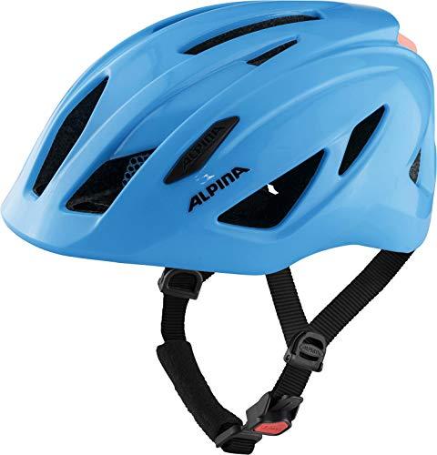 ALPINA Unisex - Kinder, PICO FLASH Fahrradhelm, neon blue gloss, 50-55 cm