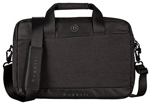 """Bugatti Universum Businesstasche für Herren mit 13"""" Laptopfach, Arbeitstasche Aktentasche Große Bürotasche, Schwarz"""
