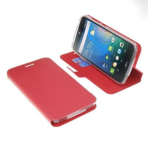 foto-kontor Tasche für Acer Liquid Z630 Liquid Z630S Liquid M630 Book Style rot Schutz Hülle Buch