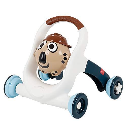 LANFENG Baby-Wanderer Für Jungen Und Mädchen, Push-Pull-Kombis, Bewegliche 1-3 Jahre Alten Kleinkind Wanderer, Baby Push-Spielzeug,Blue 2